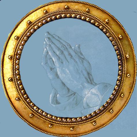 Praying Hands by Albrecht Durer - altered by Lilipily Spirit
