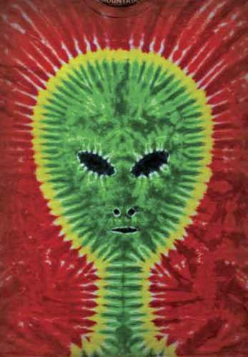 "The Mountain t-shirt ""Tie-dye Alien"""